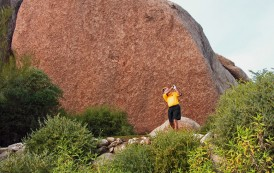 Teeing off at The Boulders - South Course - Arizona