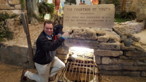 Tim Baines at the Fountain of Youth in St. Augustine