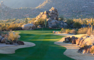 The par-4 opener on the South Course at The Boulders (c) Andrew Penner