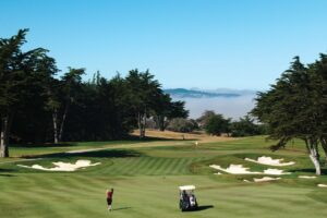Golfing at Black Horse Golf Course, Seaside, Monterey County, California