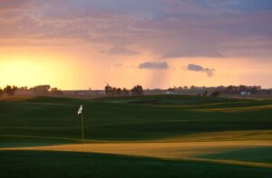 Low-angled evening light paints Speargrass GC near Calgary Alberta (c) Andrew Penner