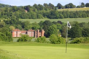 The 9th green at Lullingstone Park Golf Club