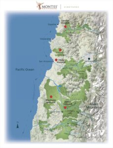 Montes Vineyard Map