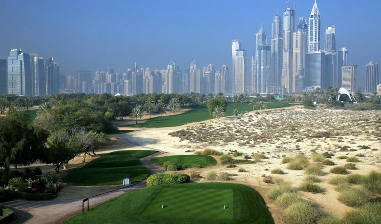 8th tee on Majils Course - Emirates Golf Club - Dubai - United Arab Emirates