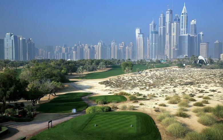 8th tee on Majils Course - Emirates Golf Club - Dubai - United Arab Emirates
