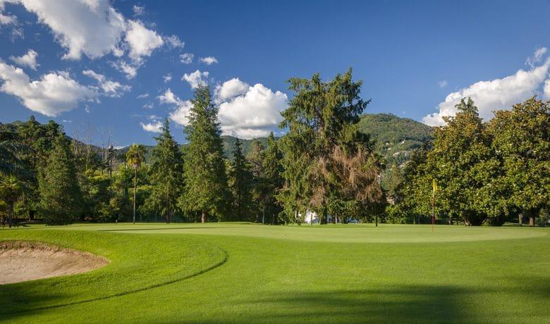 Green of Hole 12 at Circolo Golf e Tennis Rapallo, Italy