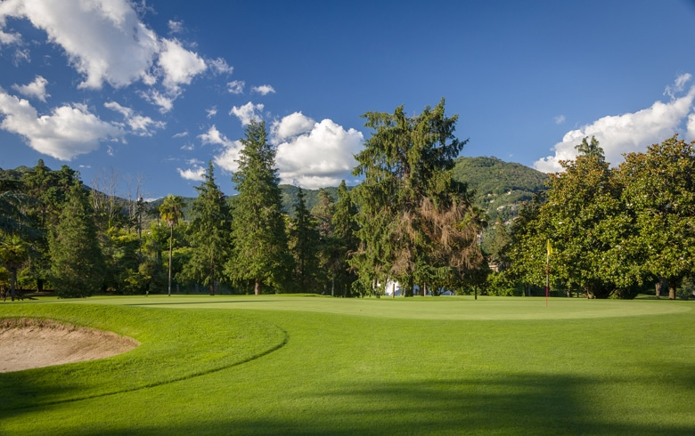 Green of Hole 12 at Circolo Golf e Tennis Rapallo, Italy