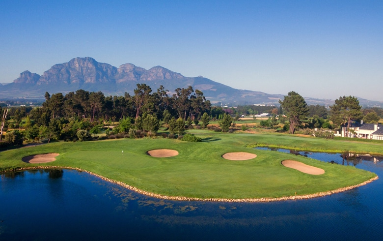 View onto the 8th - Pearl Valley Golf & Country Estate - South Africa