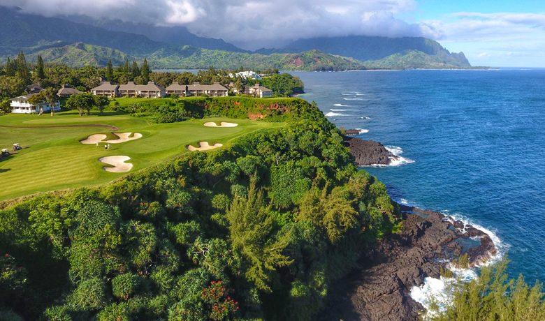 Signature Hole #7, Princeville Makai Golf Club, Hawaii