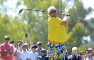 Having fun with my pants on, wearing Loudmouth's vibrant clothing line