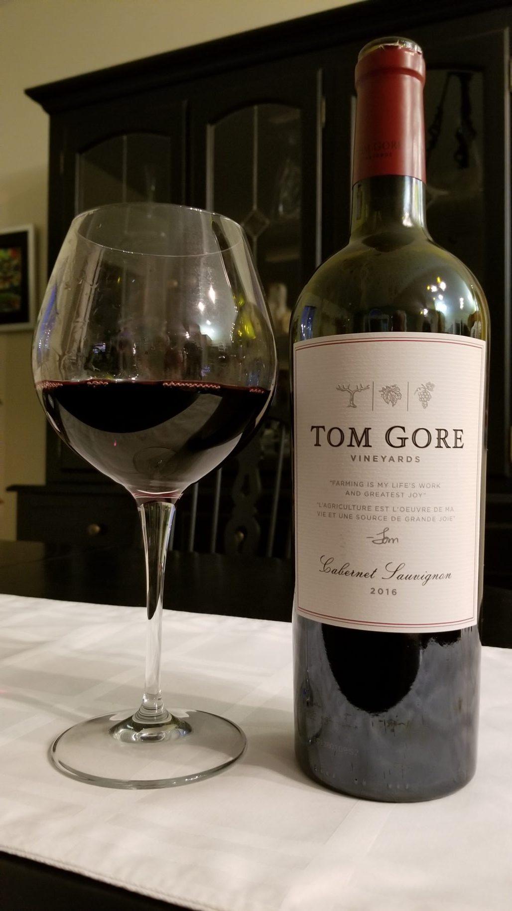 $19.95 - Tom Gore Cabernet Sauvignon 2016