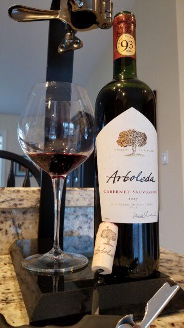 $19.95 – Arboleda Single Vineyard Cabernet Sauvignon 2017